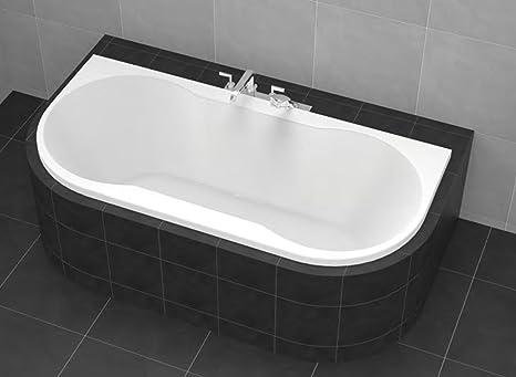Scarico Della Vasca Da Bagno In Inglese : Vasca da bagno 170 x 80 cm vasca 80 x 170 cm acrilico abgerundet