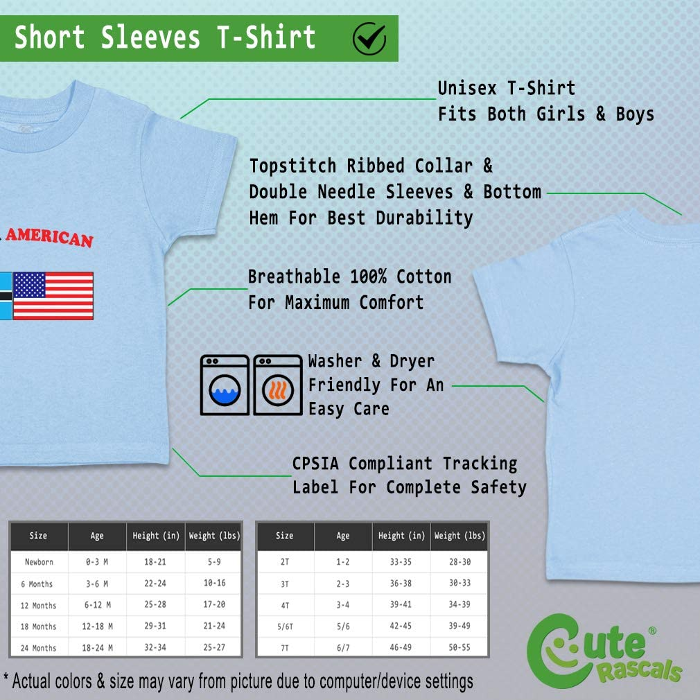 Custom Baby /& Toddler T-Shirt Tswana American Cotton Boy Girl Clothes