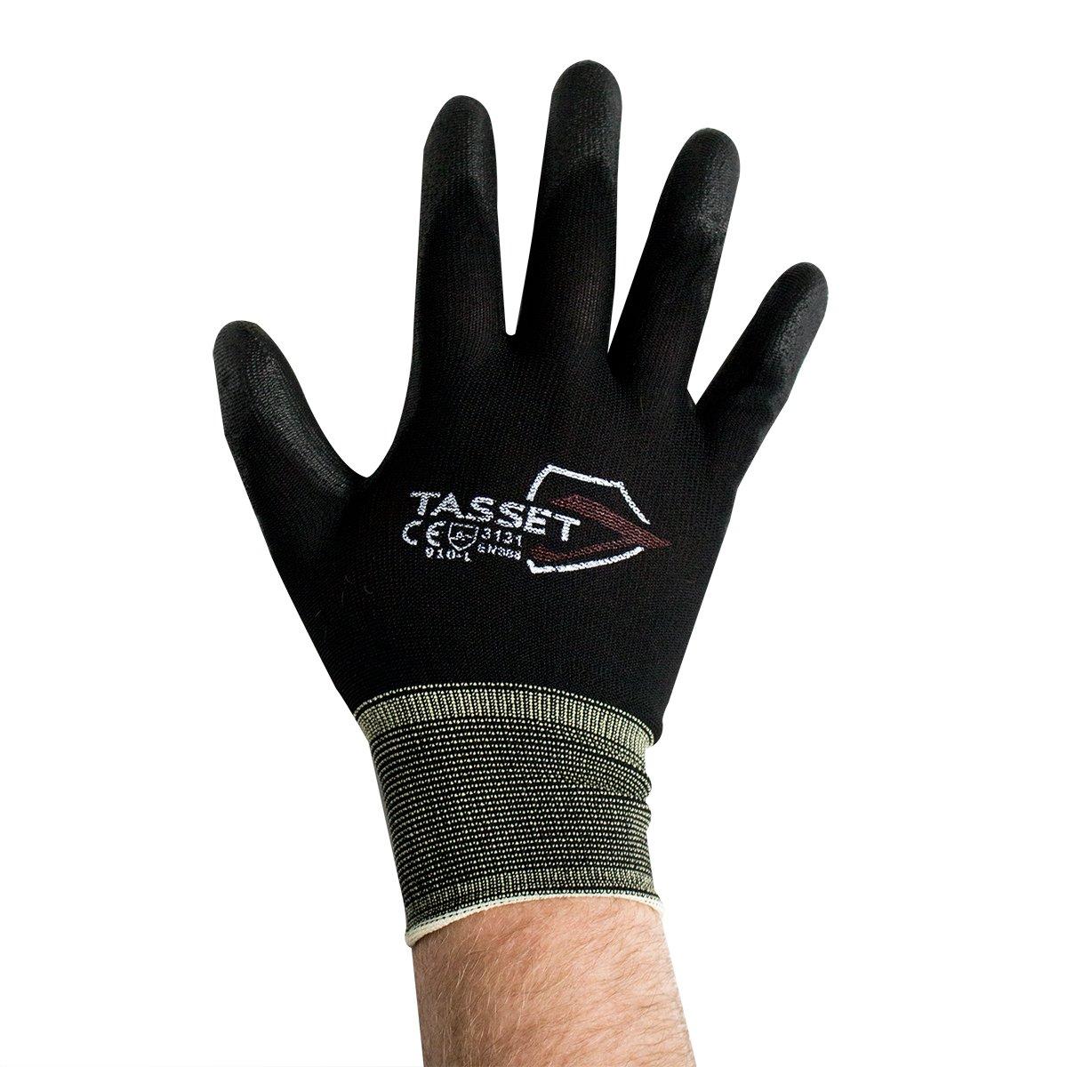 UltraSource Polyurethane Coated Nylon Gloves, Large, Black (Pair)