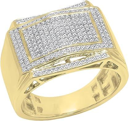 bague diamant homme or jaune