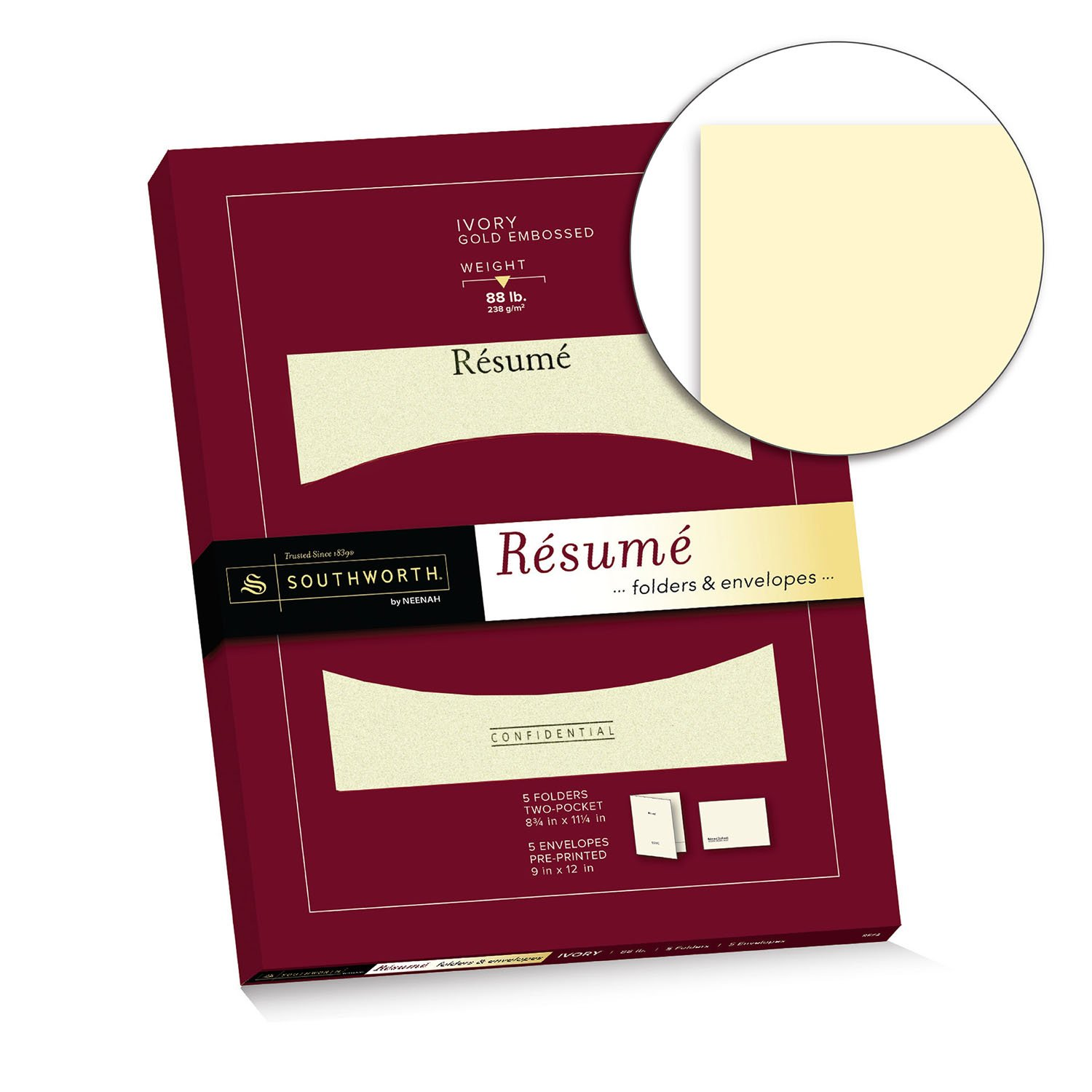 Amazon.com : Southworth Résumé Folder (8.75 With Resume Presentation Folder