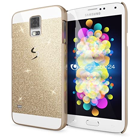 NALIA Funda Carcasa para Samsung Galaxy S5 S5 Neo, Protectora Movil Purpurina Cubierta Dura Delgado Glitter Hard-Case, Bumper Cover Lentejuela ...