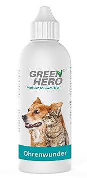 Green Hero Ohrenwunder Hunde Katzen, Pflegt das Ohr bei Ohrenmilben, Hefepilzen, Juckreiz, Entzündungen, Infektionen und Ausf