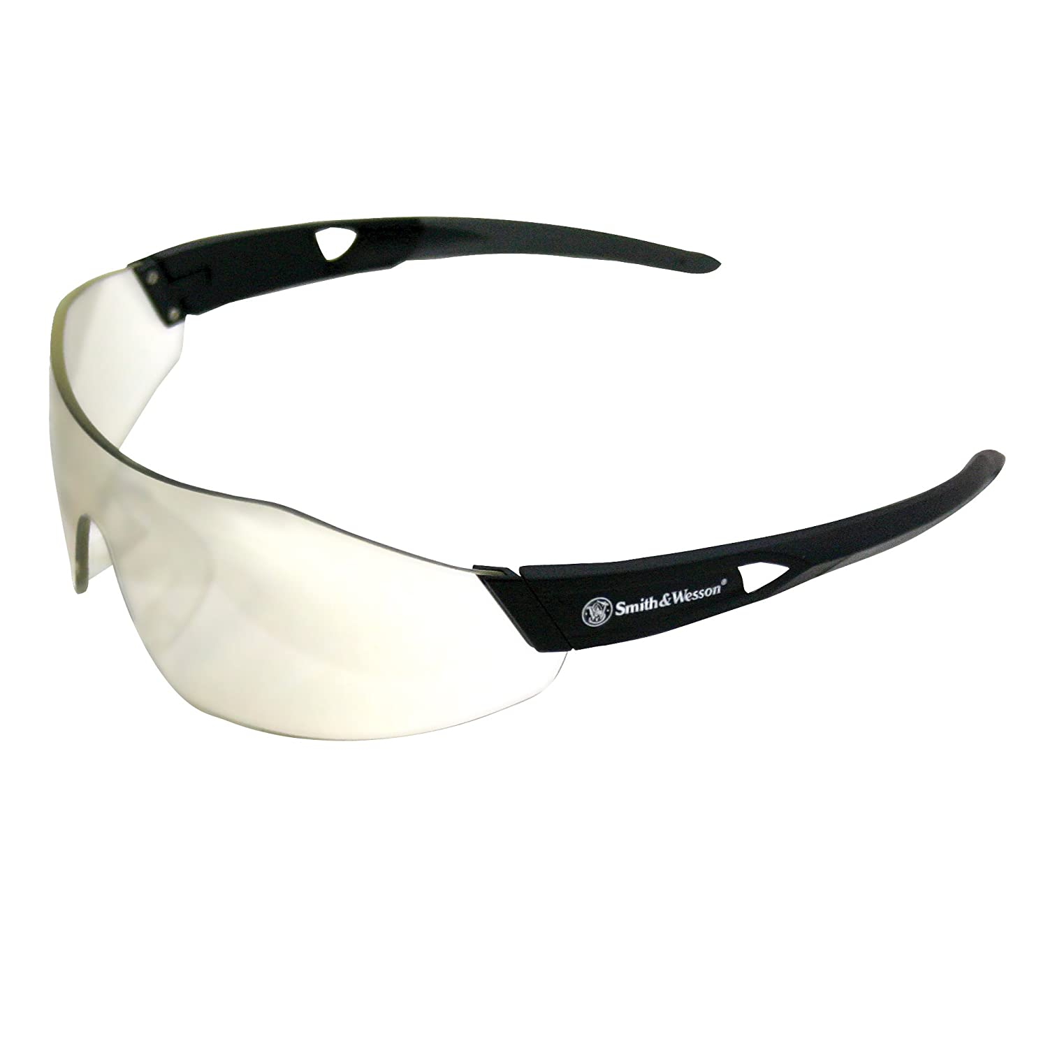 Smith & Wesson 23454 44 Magnum Safety Glasses, Indoor/Outdoor Anti-Fog Lenses with Black Frame by Jackson Safety B008D81MLC