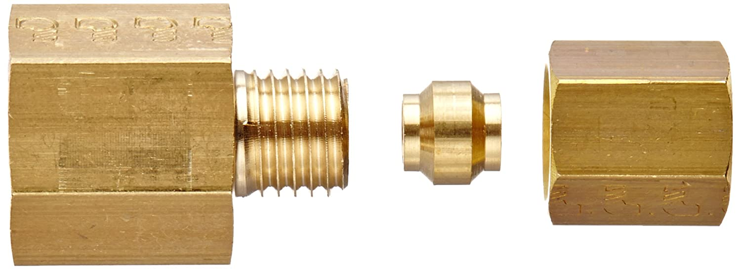 8 mm Tube OD x 3//8 BSPP Female Legris Brass Compression Tube Fitting Connector