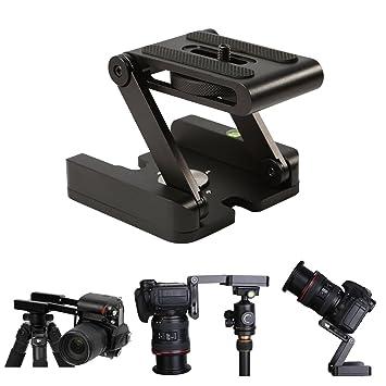 Cabezal plegable Z de escritorio para cámara DSLR, Flex Pan y Tilt compatible con riel de deslizamiento cámara vídeocámara trípode estabilizador: Amazon.es: ...