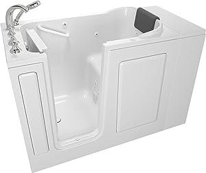 "American Standard 2848.109.WLW Gelcoat Whirlpool and Soaking 28""x48"" Left Side Door Walk-In Bathtub in White"