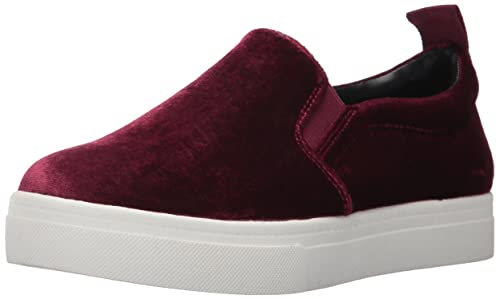 Circus by Sam Edelman Women's Scotlyn Sneaker, Dark Cranberry Velvet, 8 Medium US