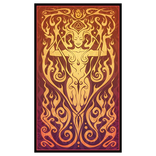 My Wonderful Walls Fire Goddess Graphic Art Fire Spirit by Cristina