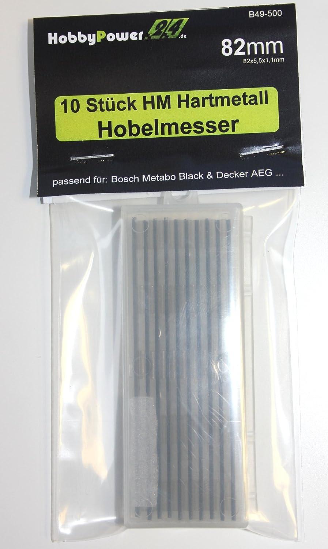 10 St/ück HM Hartmetall Wendemesser Hobelmesser f/ür HolzHer Hobel 2324 2323 2330 2321S