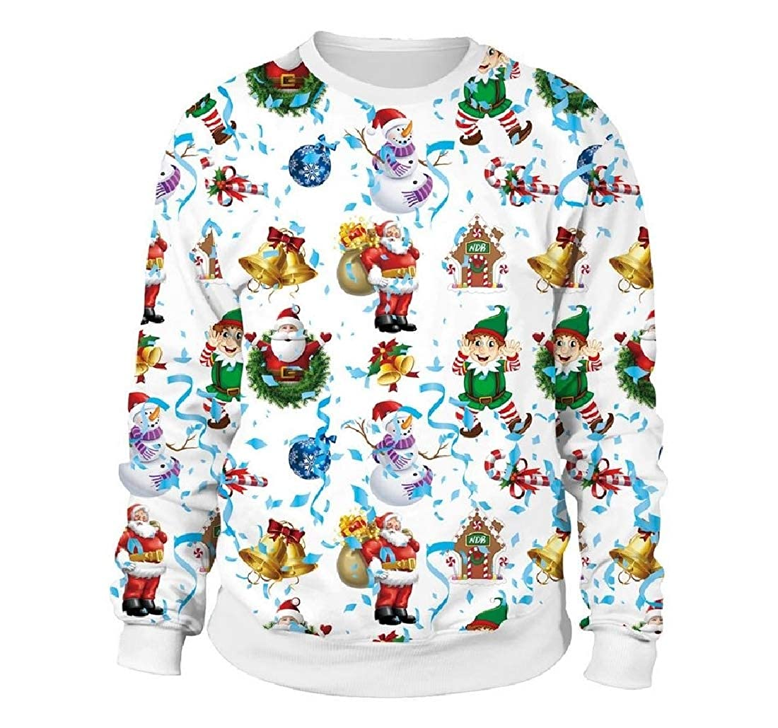 Maisicolis Womens Xmas Gift Patterns Novelty Sweater Sweatshirts Pullover