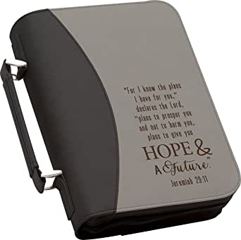 I Know the Plans Jeremiah 29:11 Large 11 x 8 Faux Leather Bible Cover Case