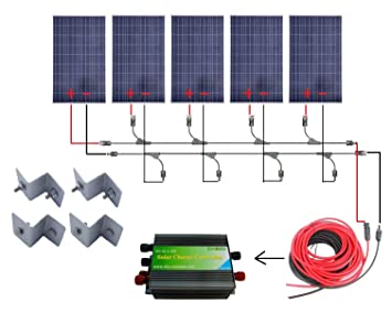 71zf1DNpZdL._SX355_ amazon com eco worthy 500 watts complete solar kit off grid  at eliteediting.co