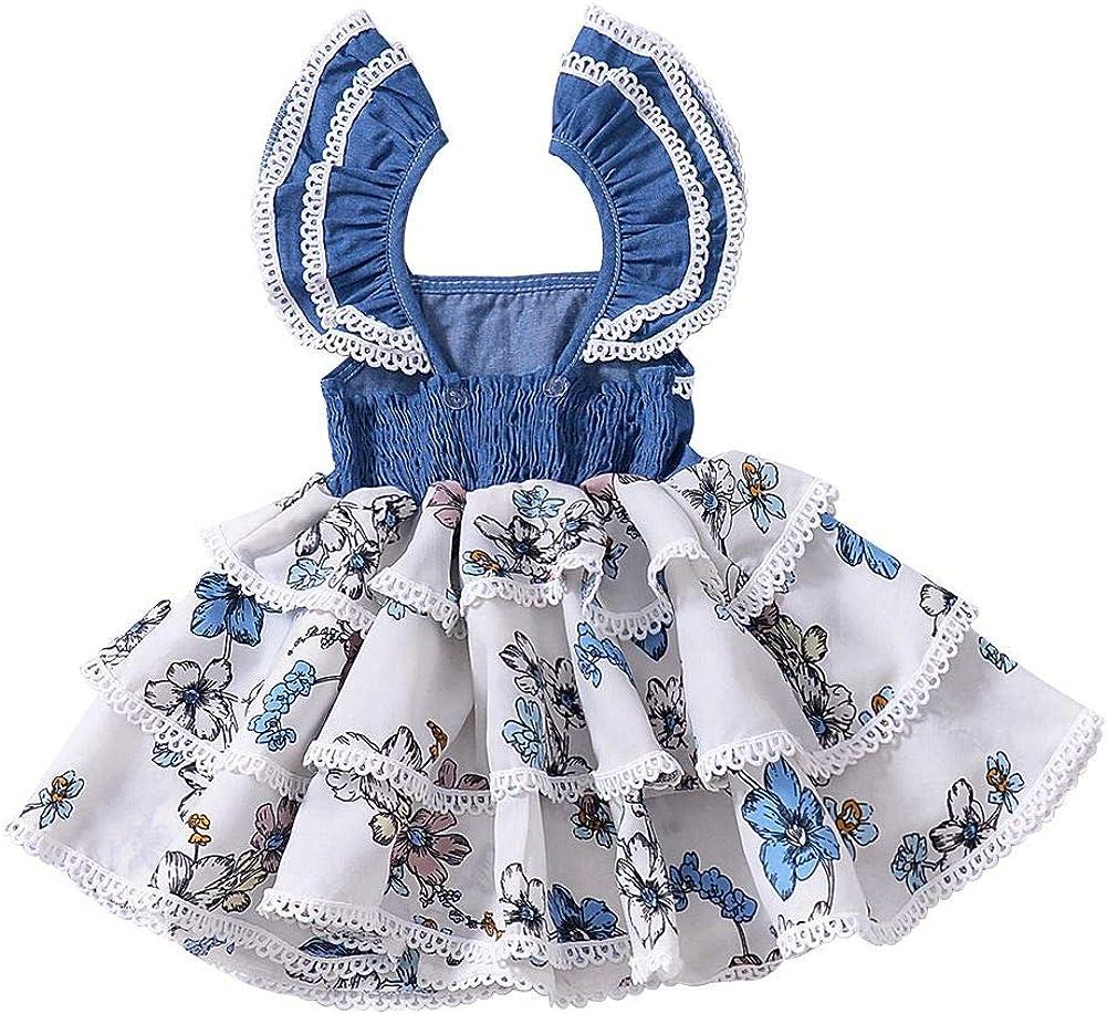 Blaward M/ädchen Tutu Rock Sommer Prinzessin Kleider Baumwolle niedlich Kleid Kost/üm Kleider