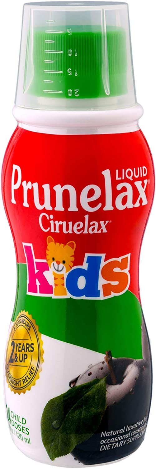Prunelax Ciruelax Natural Laxative Regular Liquid for Kids, 4.05 fl oz