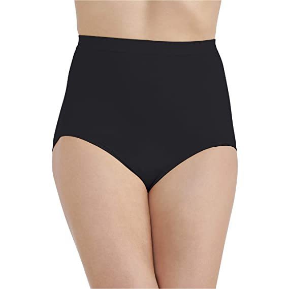 962a7fa27cbe Vanity Fair Women's Perfectly Yours Seamless Tailored Brief Panty 13083,  Midnight Black, ...