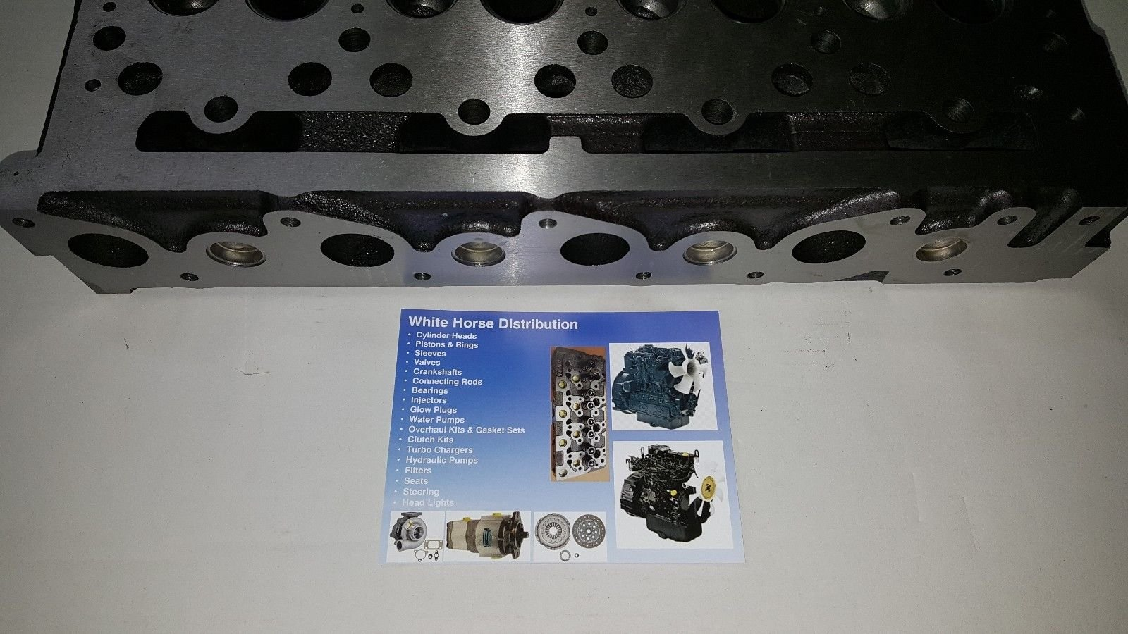 Bobcat B300 Diesel Bare Cylinder Head Part # 6655153 by WHDHD (Image #3)