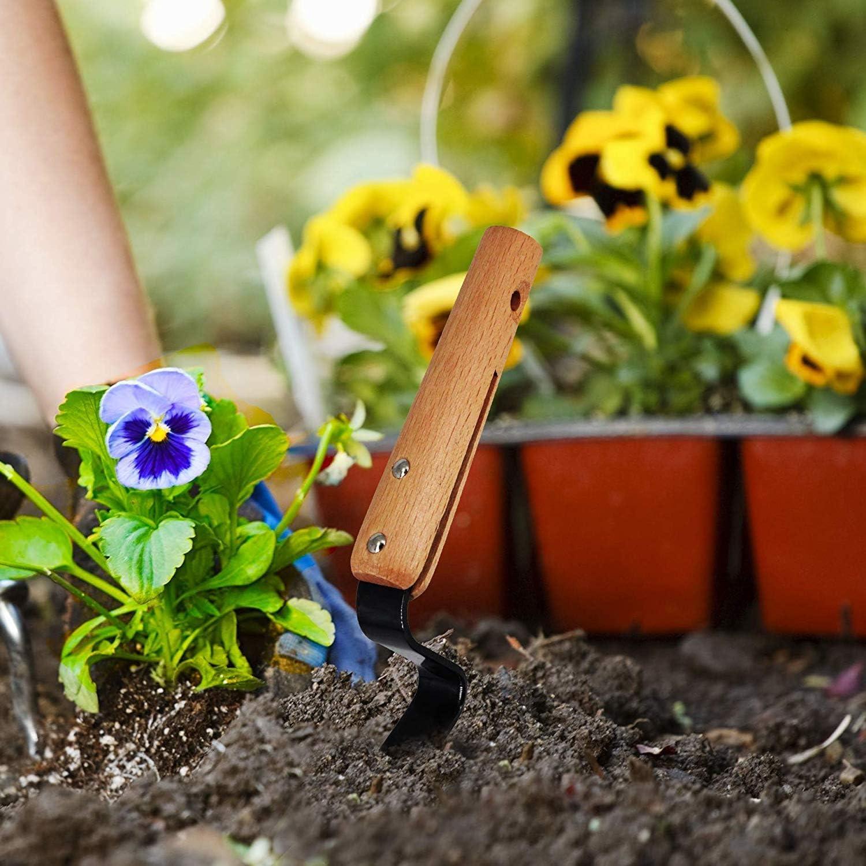D/ésherbage Fourche Outil de Jardin Rteau de Fourche /à Main Outil de D/ésherbage Le Jardin Les Terres Agricoles pour la Maison Acier Composite