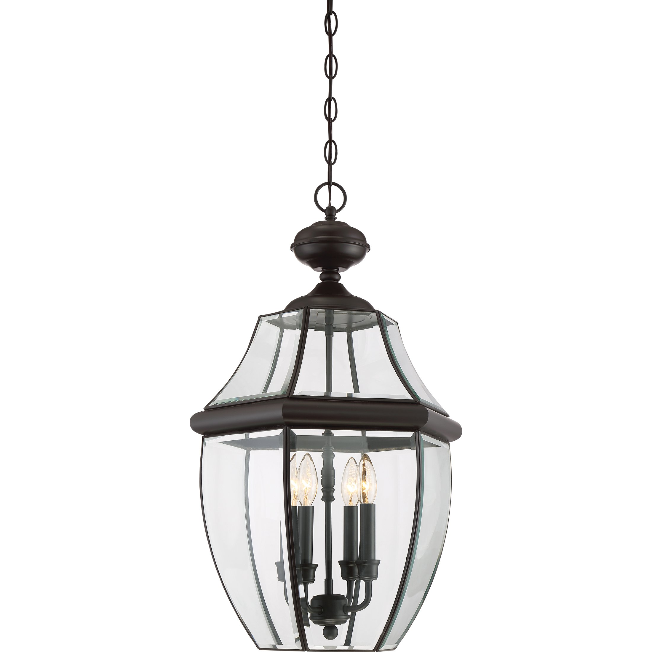 Quoizel NY1180Z 4-Light Newbury Outdoor Lantern in Medici Bronze by Quoizel