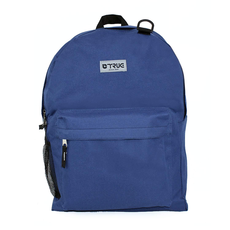 Blue 17'' Kids Classic Wholesale Sport Backpack - Bulk Case of 24 Bookbags