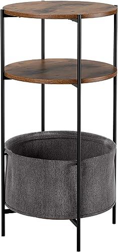 Homfa Vintage Round End Table