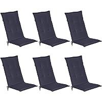 Beautissu Loft HL - Set de 6 Cojines para sillas tumbonas mecedoras de balcón o Asiento…