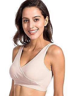Gratlin - Sujetador De Lactancia y Premamá Dormir Algodón para Mujer