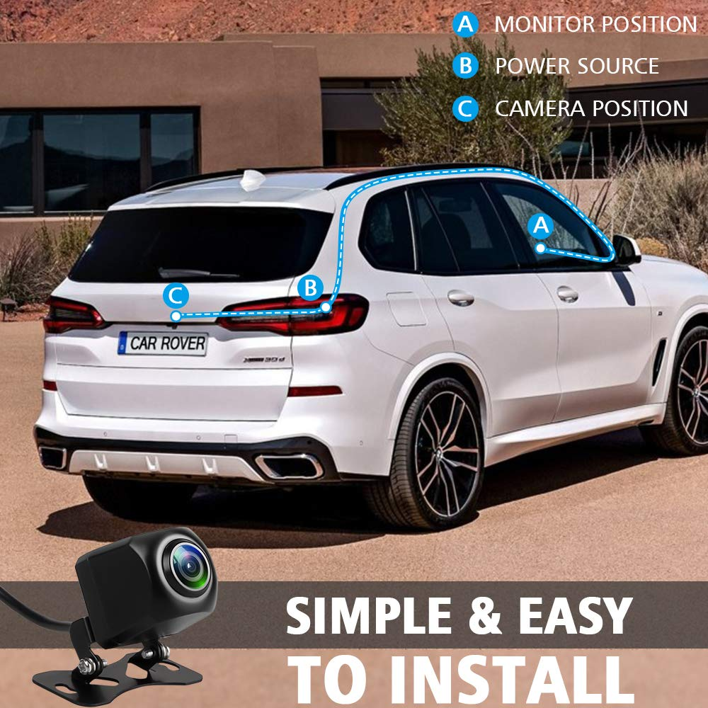 Car Backup Camera Rover Hd 1080p Waterproof Night Install Land Discovery Vision Rear View Reverse Auto Back Up Cameras With 170 Wide Viewing Angle For All
