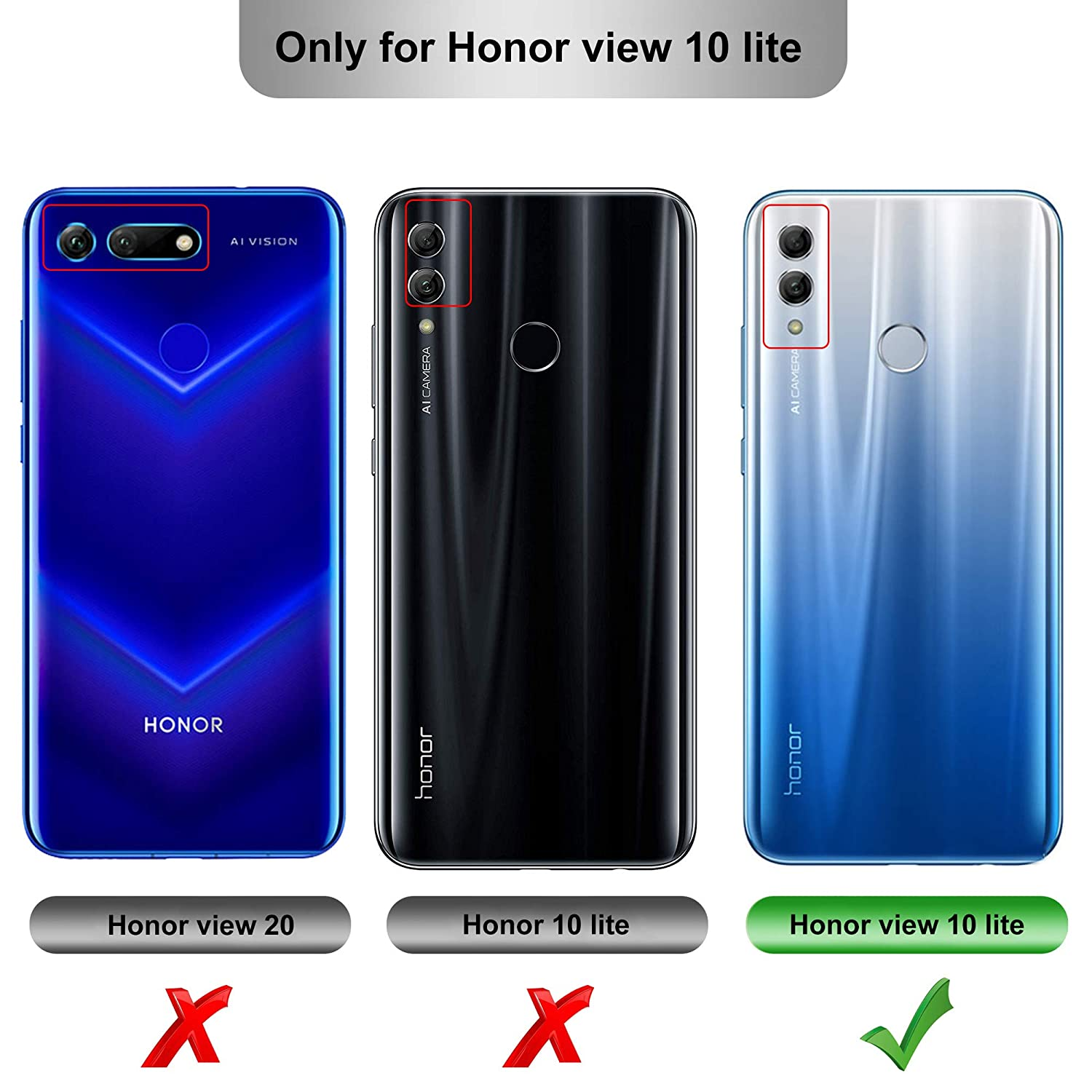 taglia 40 dffde 18f98 iBetter Honor 8X/Honor View 10 Lite Case, Premium Soft TPU Gel Honor  8X/Honor View 10 Lite Cover with [Anti-Slip] [Ultra-Thin] for Honor 8X ...