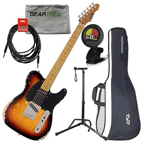 Esp Ltd te Serie TE-254 guitarra eléctrica, envejecido 3 Tone Burst W/