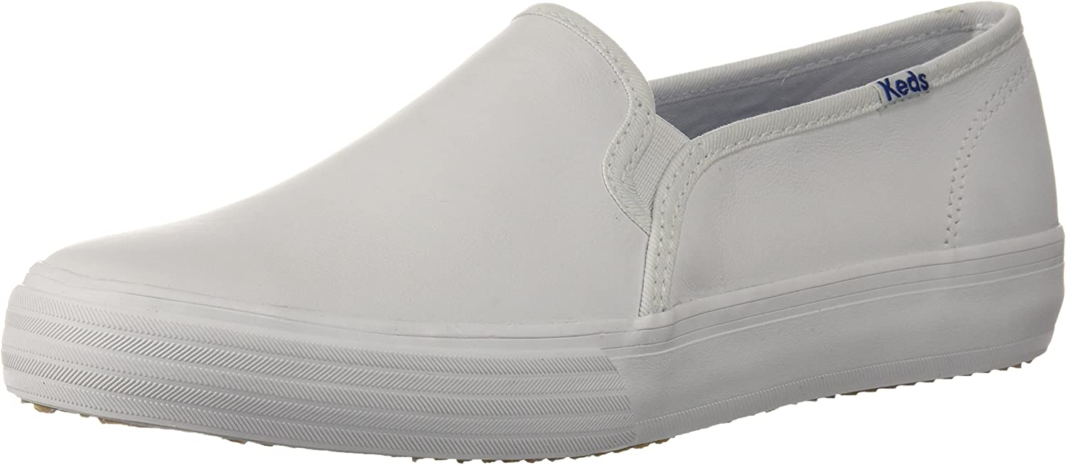 Keds Womens Double Decker Leather Slip On