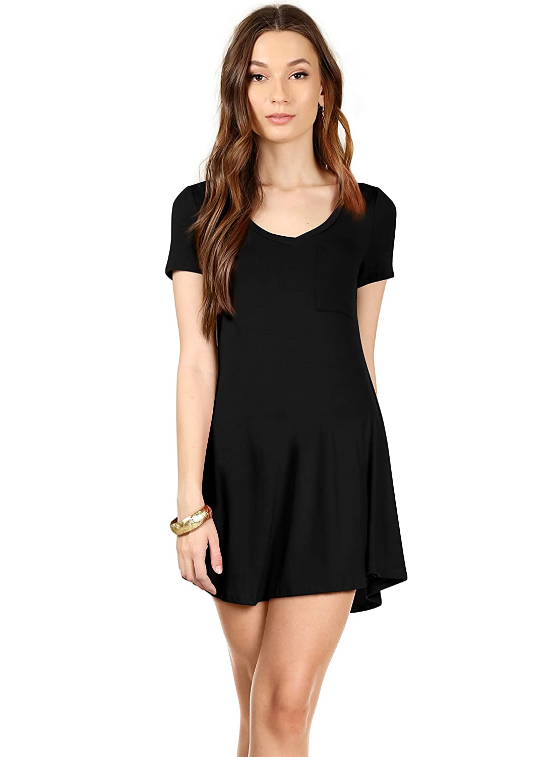 fdce6590178f QUALITY - These Jersey tunic dresses are composed of a high quality and  durable blend of Rayon and Spandex for a super soft feel with the perfect  ...