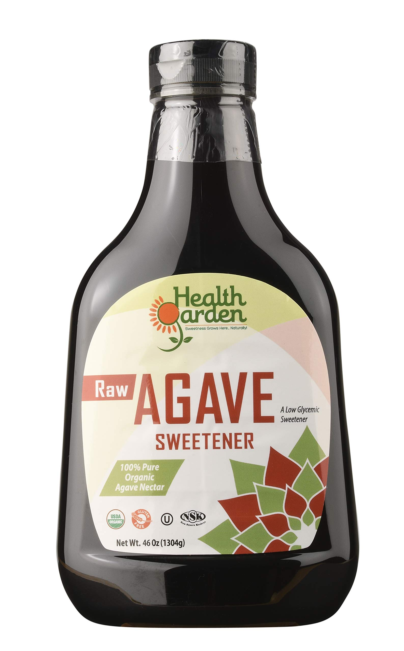 Health Garden Organic Raw Agave Nectar Sweetener, 46 oz (pack of 5)