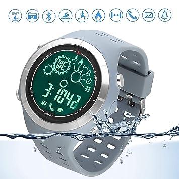 Reloj deportivo Bluetooth reloj para correr sumergible IP67 Control Remoto de Cámara Reloj Bluetooth Podómetro para teléfonos Android e IOS: Amazon.es: ...