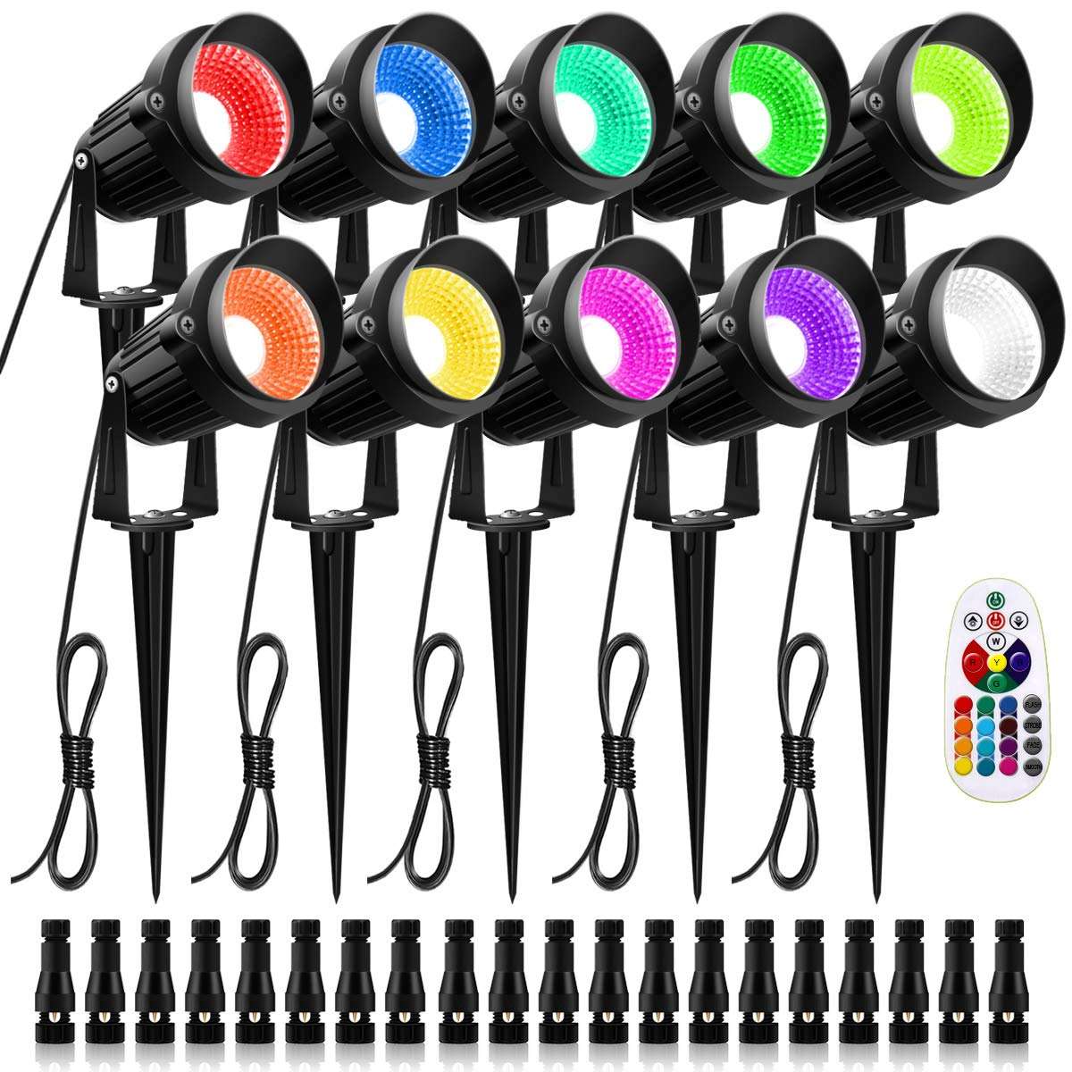 ZUCKEO RGB Color Changing Landscape Lighting