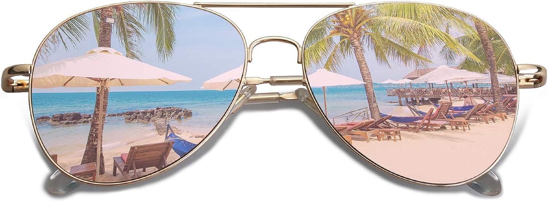 SOJOS Mode Flieger Metallrahmen Verspiegelt Linse Unisex Piloten Sonnenbrille mit Frühlings Scharnieren SJ1030 mit Gold Rahmen/Rosa Linse: Amazon.de: Bekleidung - Flieger Sonnenbrille
