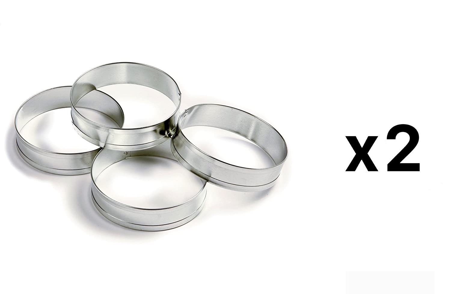 boutique chef round ring rings high tart steel perforated s cm stainless pastry chefs