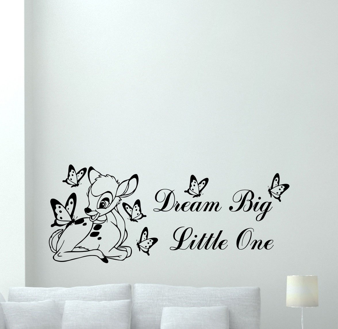 Amazon bambi disney wall decal dream big little one quote amazon bambi disney wall decal dream big little one quote cartoon butterflies poster vinyl sticker kids teen boy room nursery bedroom wall art decor amipublicfo Choice Image