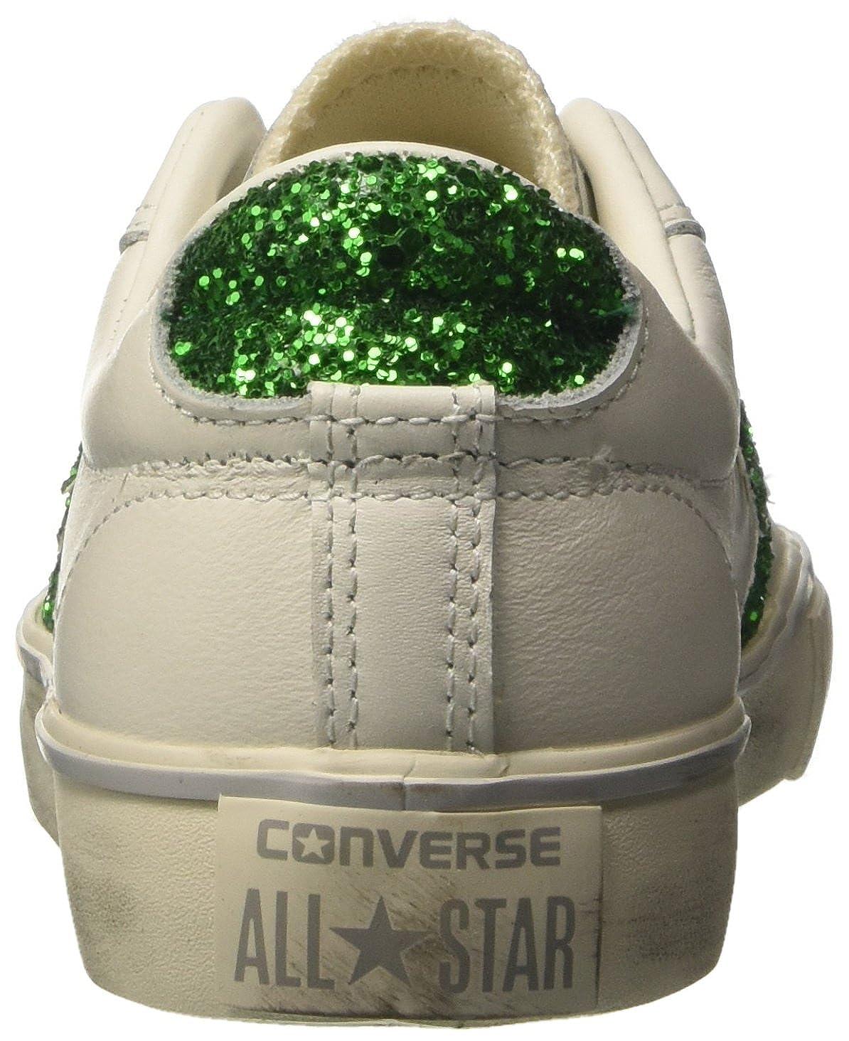 Converse Damen Pro Leather VULC Distressed OX Sneakers, Weiß (Star WhiteEmeraldTurtledove), 40 EU