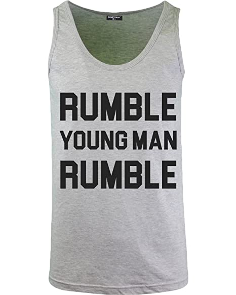 472d41a4968a6 Rumble Young Man Rumble Mens Tank Top Shirt Float Like a Butterfly (Rumble  YM Athletic