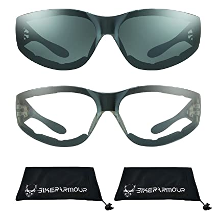 cf380884f60c8 Image Unavailable. Image not available for. Color  Motorcycle Sunglasses  Foam Padded with Flame design for Men for women - Free Microfiber Cleaning  Case