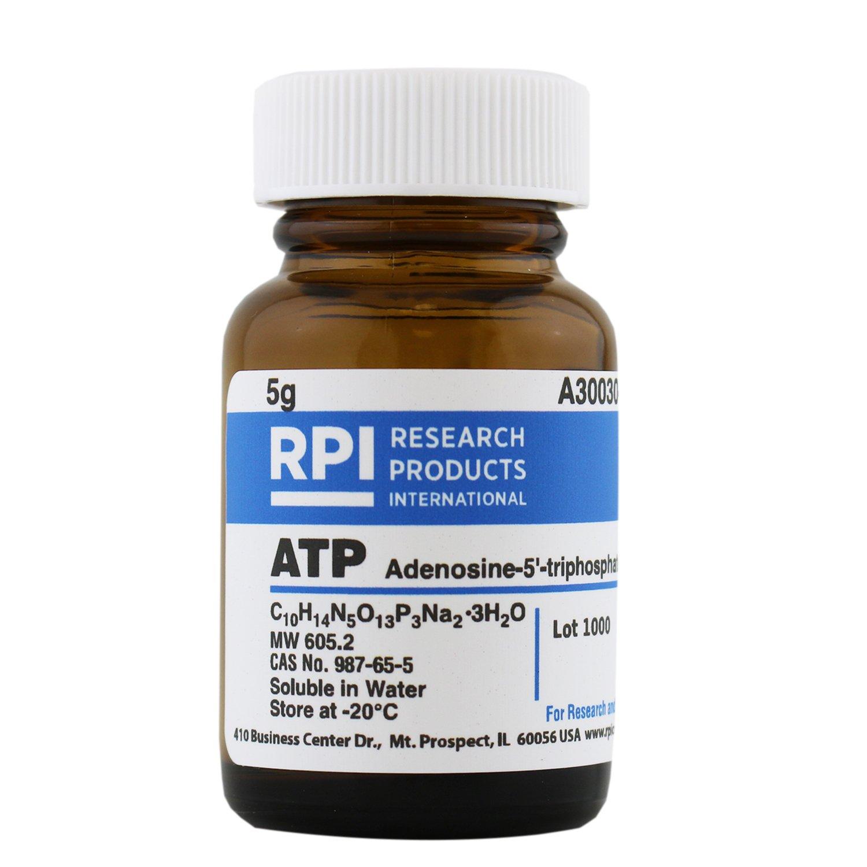 ATP [Adenosine-5'-triphosphate, disodium salt trihydrate], 5 Grams by RPI