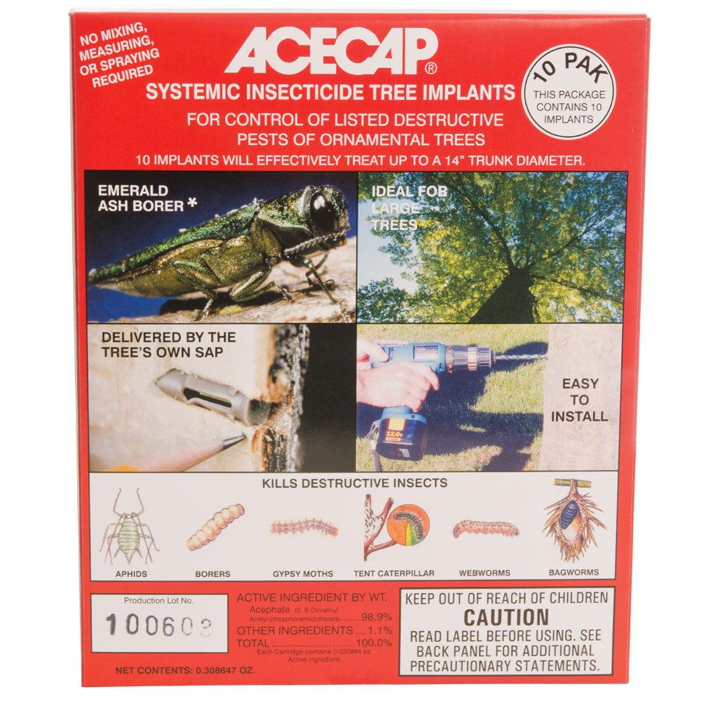 AceCap Insecticide Systemic Tree Implants, 3/8-inch Implant Diameter (10 Pack)