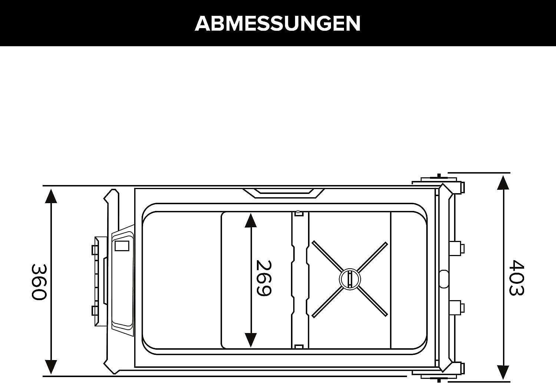 Auto oder LKW mit Steckdose und USB-Anschluss MAGIRA Arctic 36 Liter Kompressor-K/ühlbox Zwei Zonen 12V und 230V DF36-C elektrischer Mini-K/ühlschrank f/ür Camping