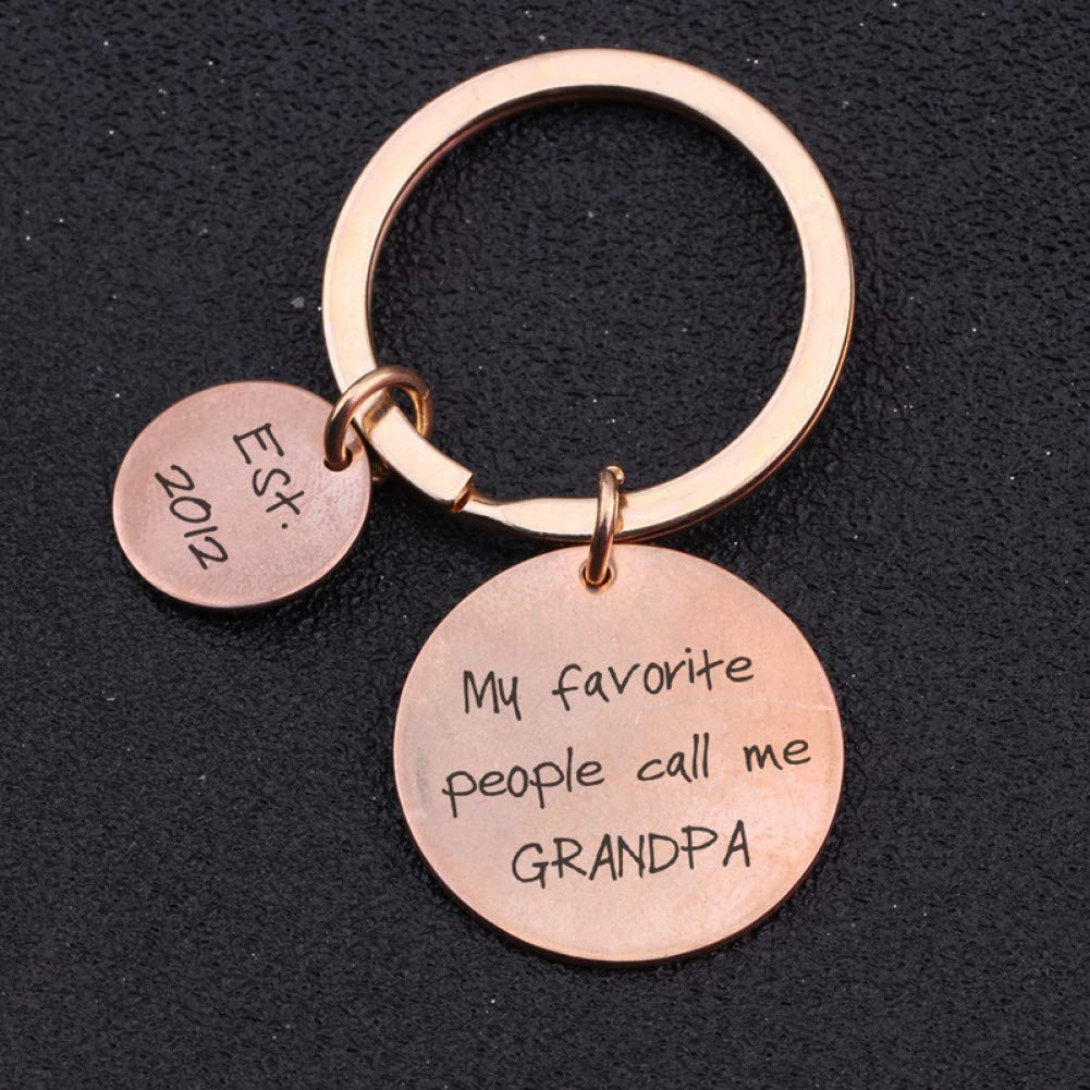 DCFVGB Mi Gente Favorita Llámame Abuelo Llavero De Moda Día ...
