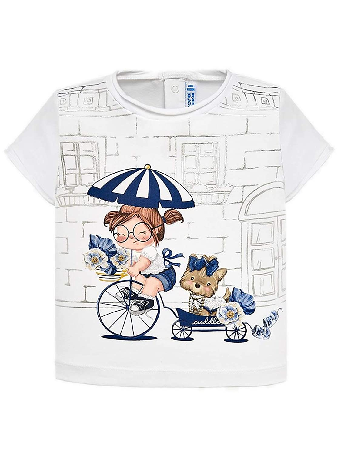 Whit-Navy 1010 S//s t-Shirt for Baby-Girls Mayoral