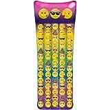 "Emoji Inflatable Pool Raft - Inflates To Over 65"" Long"