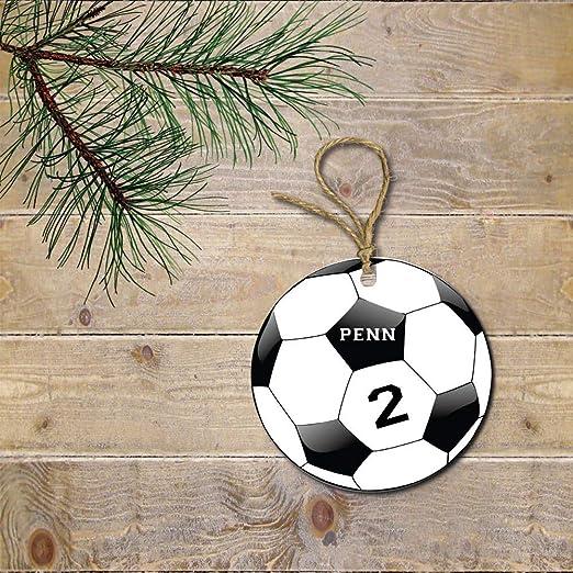C-US-lmf379581 - Adorno de fútbol, Navidad, Jugador de ...