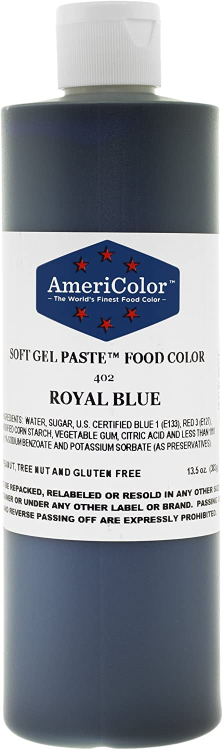 Americolor Soft Gel Paste Food Color, 13.5-Ounce, Royal Blue
