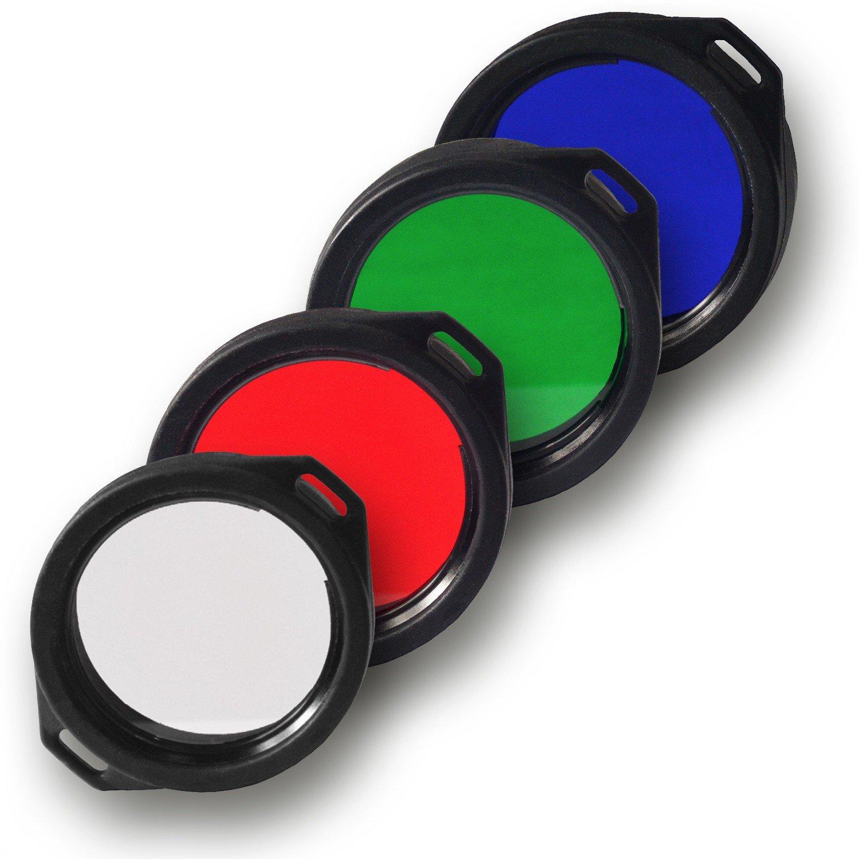 Armytek Filter / Diffusor für Predator und Viking Taschenlampen rot, grün, blau, weiß, 39mm 39 mm